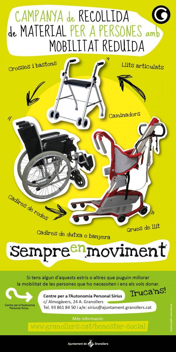 Campanya de recollida de material per a persones amb mobilitat reduïda