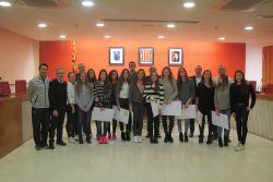 Recepció a les campiones d'Espanya del Club Natació Granollers