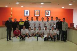 El CE Futbol Sala Can Bassa, campions de 1a territorial, que els ha comportat l'ascens a 1a nacional