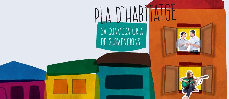 Banner de la 3a convocatòria d'ajuts a l'habitatge