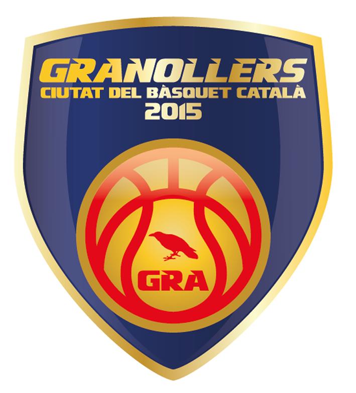"""Logotip de Granollers """"Ciutat del Bàsquet 2015"""" creat per Albert Sánchez"""