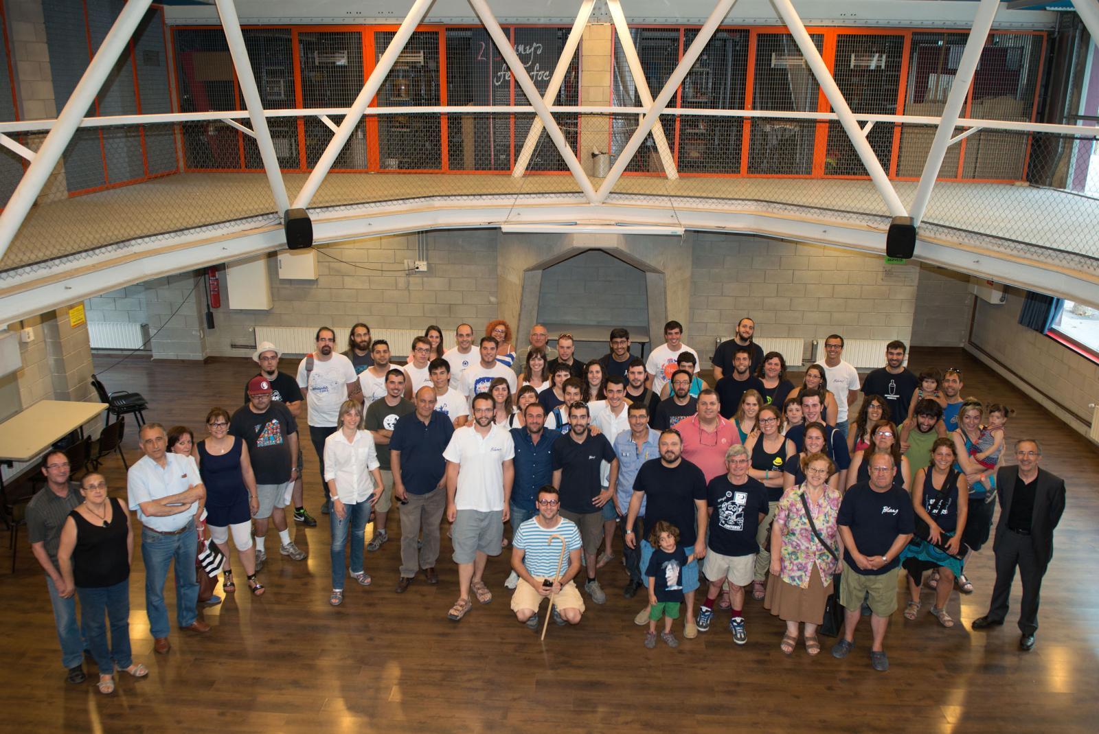 Els assistents a la presentació de la programació de Festa Major, a la Troca. Foto: T.Torrillas