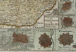 Detall mapa La Feuille. Amsterdam, 1706