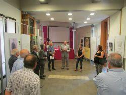 Imatge de la inauguració de l'exposició sobre Carrasco i Formiguera a Can Jonch