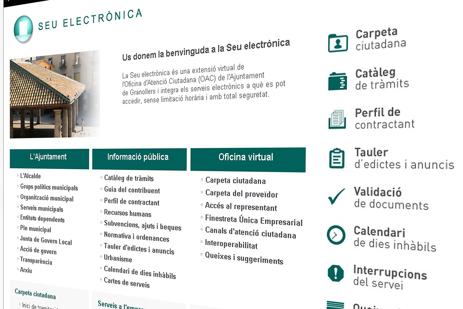 Seu electrònica de l'Ajuntament de Granollers