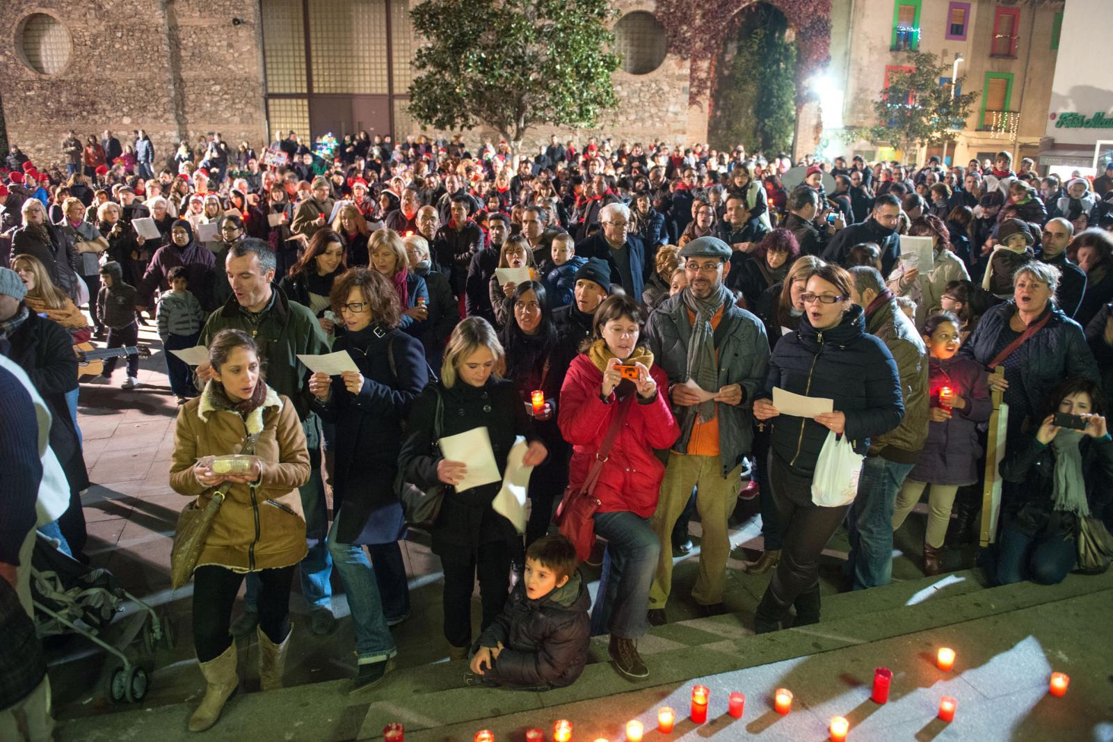 Cantada de Nadales a la plaça de l'Església, l'any passat