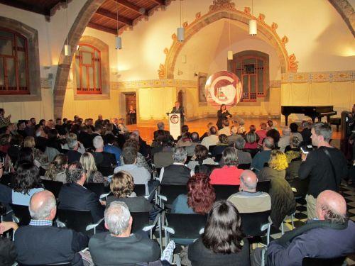 La Sala Francesc Tarafa, plena de públic per escoltar les propostes i els compromisos del govern municipal