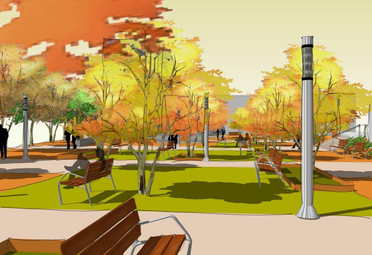 Imatge virtual de com quedarà la pl. Onze de Setembre després de les obres de remodelació
